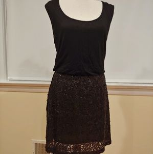 NWT Black Mini Dress with Sequins